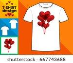 template t shirt with an trendy ...   Shutterstock .eps vector #667743688