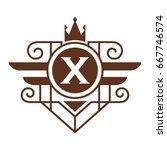 monogram logo template with...   Shutterstock .eps vector #667746574