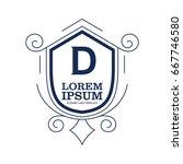 monogram logo template with...   Shutterstock .eps vector #667746580