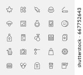 bad habit line icons vector... | Shutterstock .eps vector #667752643