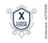 monogram logo template with...   Shutterstock .eps vector #667754398