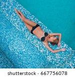 Beautiful Slim Girl In Swimsui...