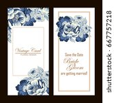 romantic invitation. wedding ... | Shutterstock .eps vector #667757218