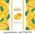 ripe orange vertical seamless... | Shutterstock .eps vector #667758778
