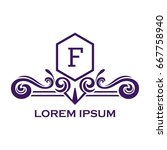 monogram logo template with...   Shutterstock .eps vector #667758940