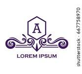 monogram logo template with...   Shutterstock .eps vector #667758970