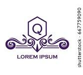 monogram logo template with...   Shutterstock .eps vector #667759090