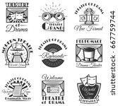 vector set of classic theater...   Shutterstock .eps vector #667759744