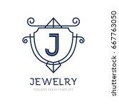 monogram logo template with...   Shutterstock .eps vector #667763050