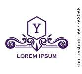 monogram logo template with...   Shutterstock .eps vector #667763068