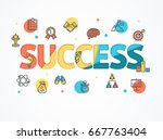 success start up concept paper... | Shutterstock .eps vector #667763404