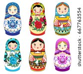 Russian Doll Matrioshka With...