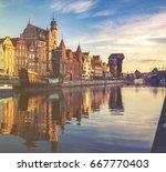 cityscape of gdansk in poland | Shutterstock . vector #667770403