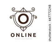 monogram logo template with...   Shutterstock .eps vector #667772248