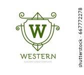 monogram logo template with...   Shutterstock .eps vector #667772278