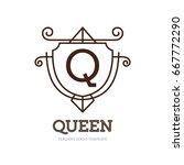 monogram logo template with...   Shutterstock .eps vector #667772290