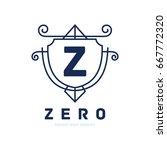 monogram logo template with...   Shutterstock .eps vector #667772320