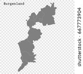 high quality map of burgenland... | Shutterstock .eps vector #667773904
