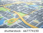 3d map of city with navigator... | Shutterstock . vector #667774150