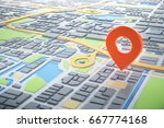 3d map of city with navigator... | Shutterstock . vector #667774168