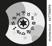 circle with signs of zodiac. | Shutterstock .eps vector #667788898