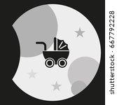 pram icon. | Shutterstock .eps vector #667792228