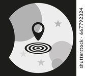 geo targeting icon. | Shutterstock .eps vector #667792324
