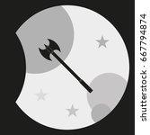 double edged axe icon.   Shutterstock .eps vector #667794874