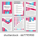 abstract vector layout... | Shutterstock .eps vector #667795900