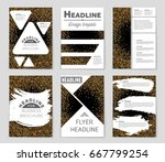 abstract vector layout... | Shutterstock .eps vector #667799254