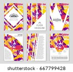 abstract vector layout... | Shutterstock .eps vector #667799428
