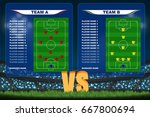 crowed of fan in football... | Shutterstock .eps vector #667800694