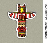 cartoon canadian haida totem....