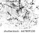 scratches. vector scratched... | Shutterstock .eps vector #667809130