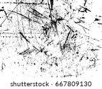 scratches. vector scratched... | Shutterstock .eps vector #667809130