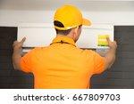 air conditioning technician | Shutterstock . vector #667809703