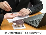 banks approve loans to buy... | Shutterstock . vector #667809940