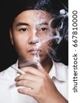 the penalty of cigarettes ... | Shutterstock . vector #667810000
