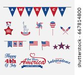 isolated 4th of july design... | Shutterstock .eps vector #667814800