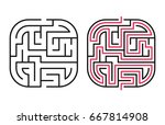 abstract maze   labyrinth with... | Shutterstock .eps vector #667814908