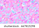 light pink  blue vector... | Shutterstock .eps vector #667815298