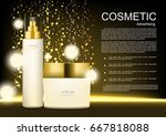 vector cosmetic ads anti aging... | Shutterstock .eps vector #667818088