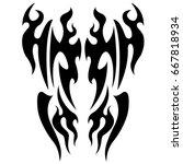 tattoo fire   Shutterstock .eps vector #667818934