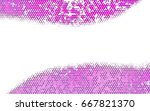 light purple vector pattern.... | Shutterstock .eps vector #667821370
