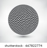 abstract sphere design.vector... | Shutterstock .eps vector #667822774