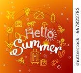 hello summer concept. different ...