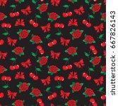 old school seamless pattern... | Shutterstock .eps vector #667826143