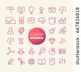 outline icon set. web and...