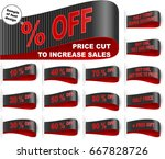 clothes labels with price cuts  ...   Shutterstock .eps vector #667828726