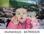 Baby Watching Through The Car's ...